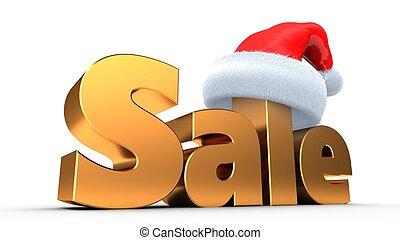3d golden sale sign