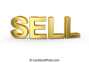 3D golden SELL type