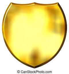 3D Golden Shield