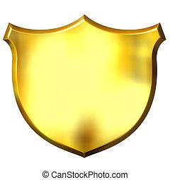 3D Golden Sign