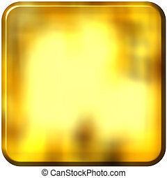 3D Golden Square with rounded edges