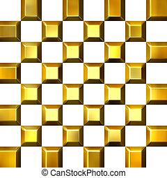 3D Golden Tiles