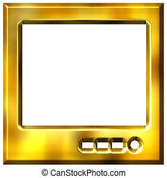 3D Golden TV
