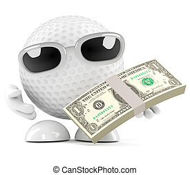 3d Golf ball US Dollars