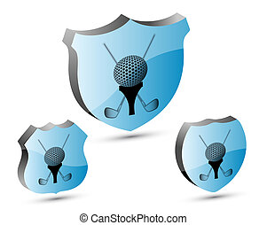 3D golf shield set