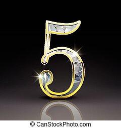 3d gorgeous diamond number 5