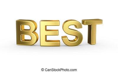 3d, gouden, best, meldingsbord