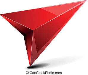 3D GPS Arrow - detailed illustration of a 3D gps arrow with...