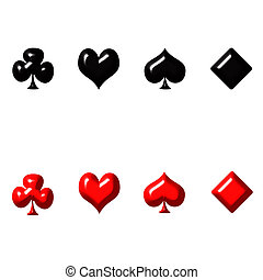 3d, grać kartę garnitury