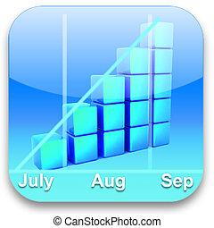 3d graph icon