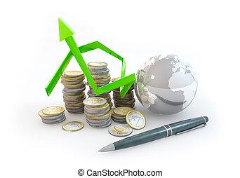 3d Graph Risk of Financial World