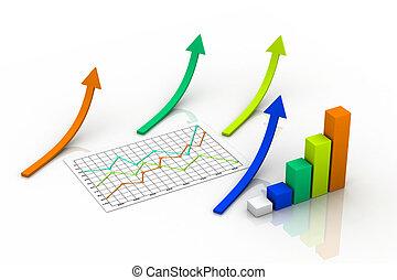 3d graph showing rise