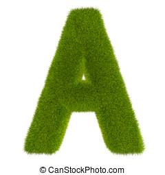 3D Grass Letter A