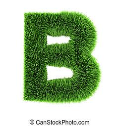 3d Grass letter B
