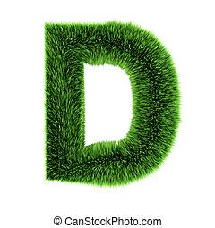 3d Grass letter D