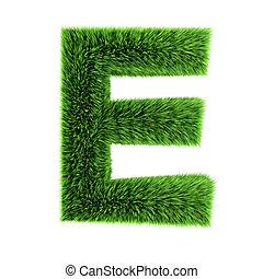 3d Grass letter E