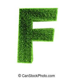 3d Grass letter F