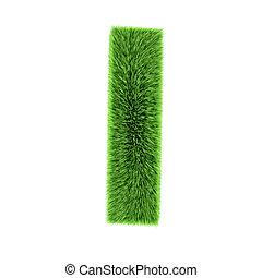 3d Grass letter I