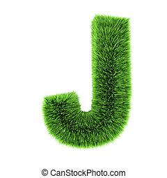 3d Grass letter J