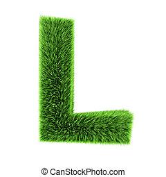 3d Grass letter L