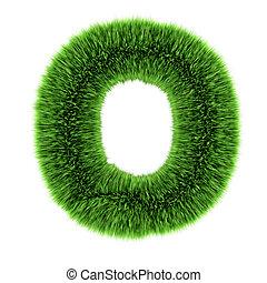 3d Grass letter O