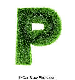 3d Grass letter P
