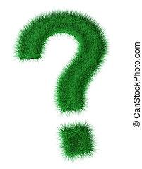 3d grass question mark