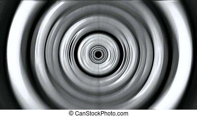 3d gray metal round