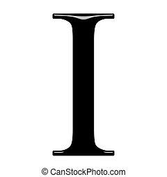 3D Greek Letter Iota