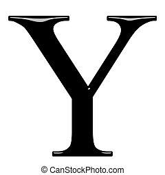 3D Greek Letter Ypsilon