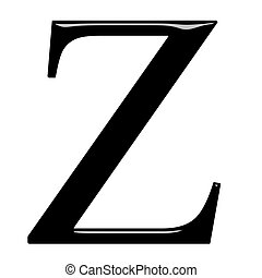 3D Greek Letter Zeta