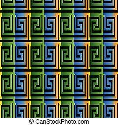 3d greek seamless pattern.