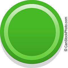 3D green blank icon in flat style