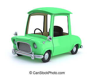 3d Green cartoon car