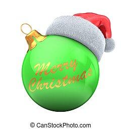 3d green Christmas ball