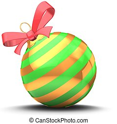 3d green Christmas ball