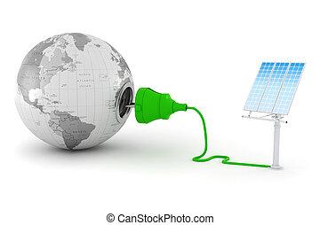 3d, green energy concept