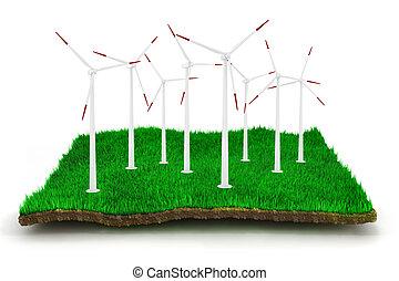 3d green energy concept