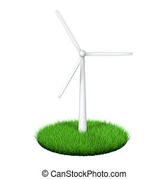 3d green energy wind turbine