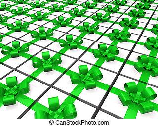 3d green gift