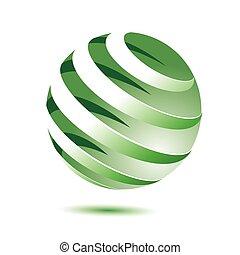 3d green globe