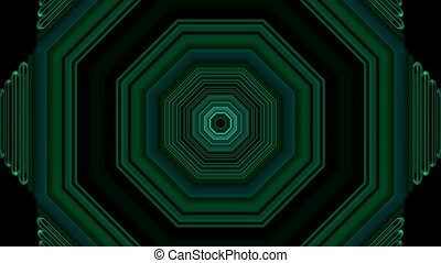 3d green hexagon,tunnel - 3d green metal hexagon,computer...
