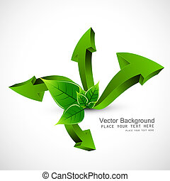 3d green lives colorful arrow vector design