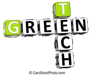3D Green Tech Crossword