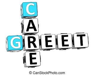 3D Greet Care Crossword