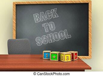3d grey chalkboard - 3d illustration of grey chalkboard with...