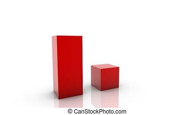 3d, groeiende, zakelijk, tabel