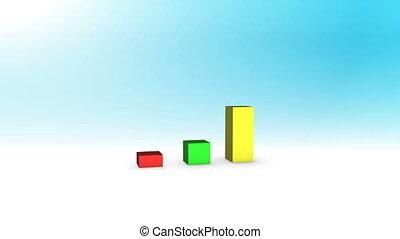 3D Growing Business Chart
