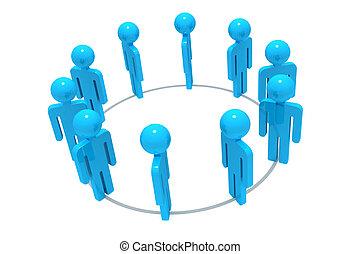 3d, grupo, trabalhe pessoas
