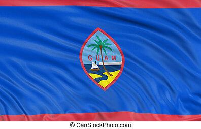 3D Guam Flag
